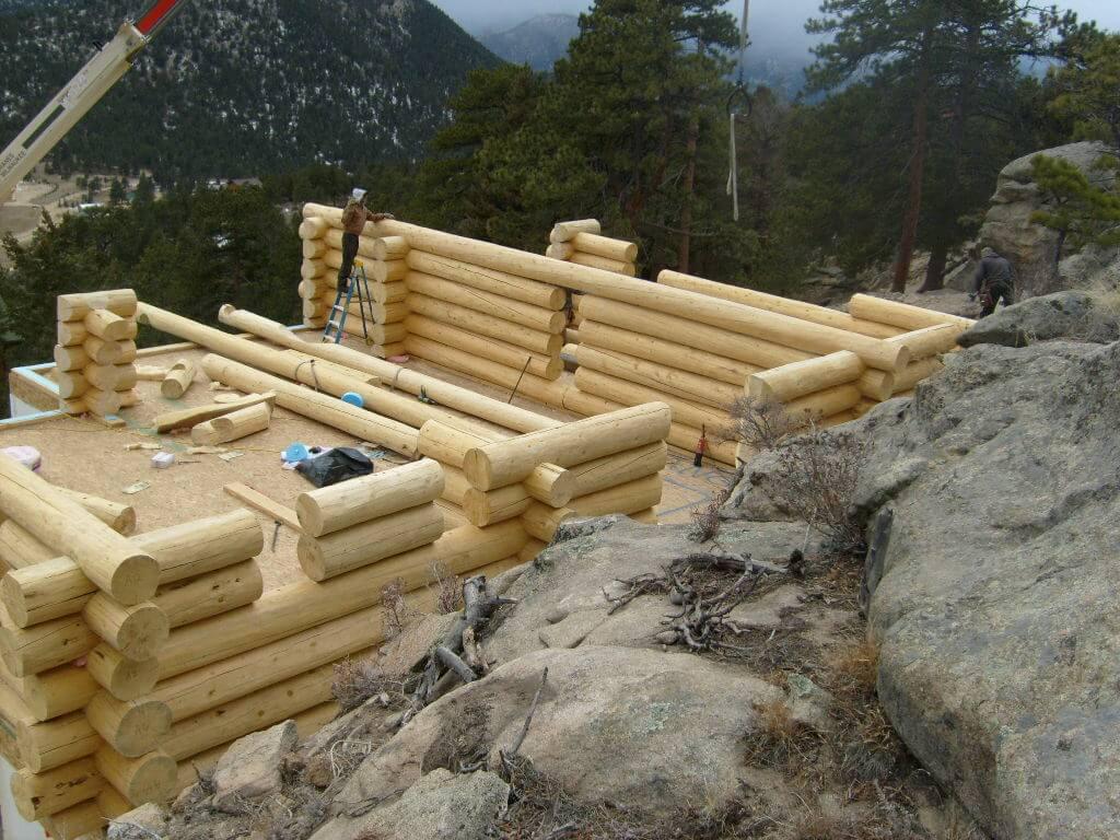 Custom Log Homes in Colorado Mountain Construction 789